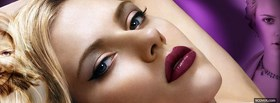 scarlett johanson with makeup facebook cover