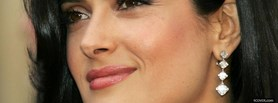 free salma hayek with earings facebook cover