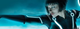 free olivia wilde in tron facebook cover