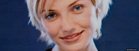 free cameron diaz with short hair facebook cover