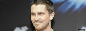 free celebrity christian bale smiling facebook cover