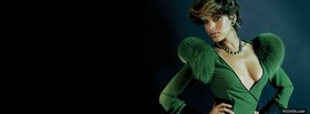 eva mendes in green dress facebook cover