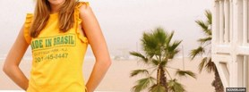 free mandy moore yellow made in brasil facebook cover