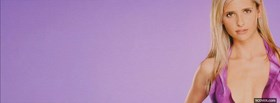 sarah michelle gellar with purple facebook cover