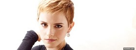 celebrity emma watson with short hair facebook cover