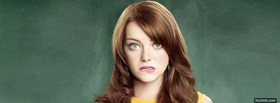 free emma stone biting lips facebook cover