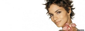 halle berry with great short hair facebook cover