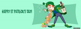 st patrick kiss me im irish facebook cover