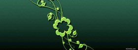 happy st patricks day clovers and hat facebook cover