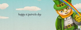 funny leprechaun vomiting cereal facebook cover