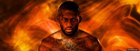 free ufc mma fighter flames facebook cover