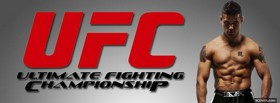 free red ufc logo and fighter facebook cover