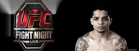 mma fighter and abstract facebook cover