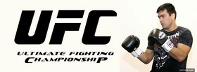 free ufc black logo facebook cover