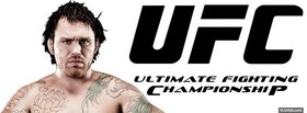 free black ufc logo facebook cover
