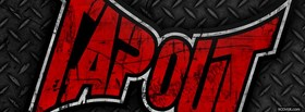 free tapout red logo facebook cover