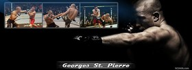 free geoge st pierre fighting facebook cover