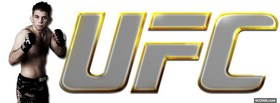 free yellow ufc logo and fighter facebook cover