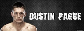 free dustin pague ufc fighter facebook cover