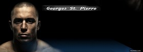 free george st pierre mma fighter facebook cover