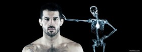 free mma fighter skeleton facebook cover