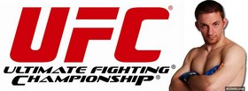 free red ufc logo fighter facebook cover