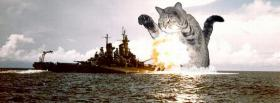free cat destroying ship facebook cover