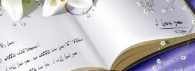 free beautiful open book of love facebook cover