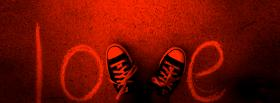 converse sneackers love facebook cover