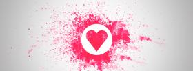 love painted pink heart facebook cover
