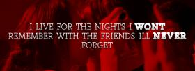 free the nights i wont remember quotes facebook cover
