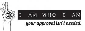i am who i am quote facebook cover