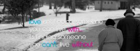 someone you cant live without facebook cover