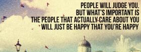 free people will judge you quotes facebook cover