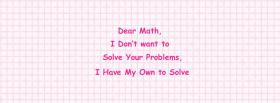 free dear math problems quotes facebook cover