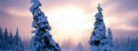 free nature snow on trees facebook cover