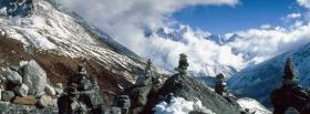 nature mountains in himalaya facebook cover