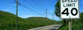 free nature speed limit sign facebook cover