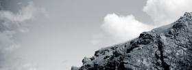 free black and white mountain and sky facebook cover