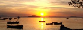 free sunset and water facebook cover