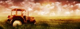 free tractor and great sky facebook cover