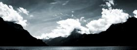 free beautiful black and white landscape facebook cover