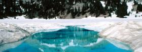 free lovely winter scenery facebook cover