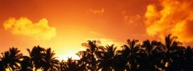 nature cook island sunset facebook cover