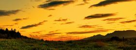 free nature sunset in the valley facebook cover