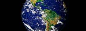 free the large globe in space facebook cover