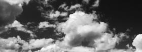 black and white clouds facebook cover