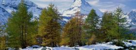 free nature green trees and snow facebook cover