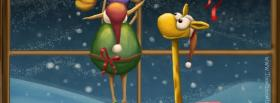 adorable christmas giraf facebook cover