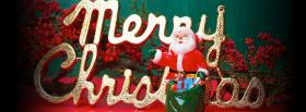 santa claus with gifts facebook cover